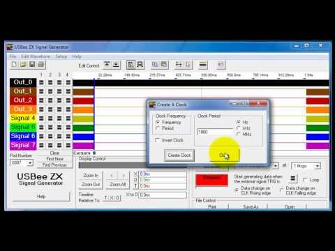 USBee 4-Bit Counter Waveform Signal Generation