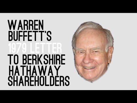 Warren Buffett's 1979 Letter to Berkshire Shareholders - Animated