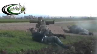 FSA kaunches KONKORS missile towards Assadu0027s thugs on Sl Shaikh Hadeed Hill & destroy a