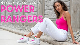 POWER RANGERS x REEBOK FREESTYLE PINK RANGER On Foot Review and Styling Haul THESE ARE CRAZY!