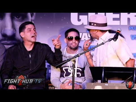 Ruben Guerrero almost fights Angel Garcia on stage at Garcia vs. Guerrero press conference