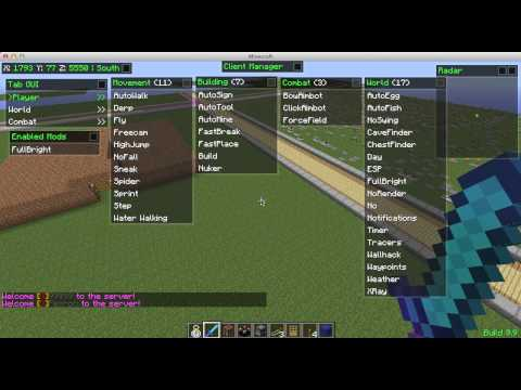 How to hack Minecraft  - Nodus Hacked Client
