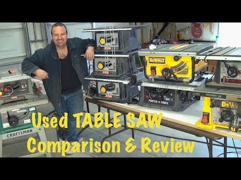 6 Well Used Table Saws - Comparison & Review *The Good, Bad & Ugly