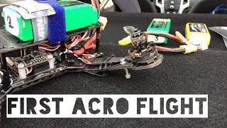 RCX 250 - first acro flight. FPV RACER