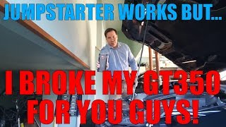 I Broke My GT350 For You Guys! But the Arteck Car Jump Starter is a BOSS