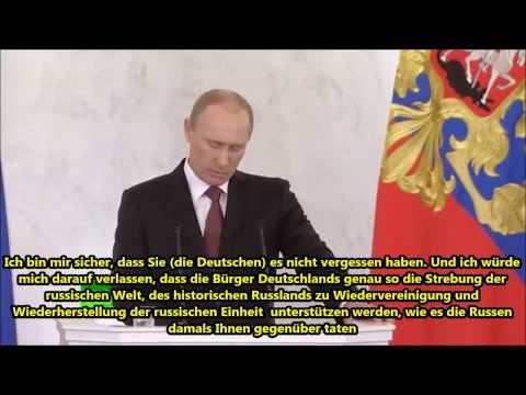 Putin wandte sich direkt an das Deutsche Volk nicht Regierung wegen der Krim