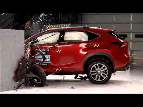2015-2018 Lexus NX200t/NX300h (Hybrid) IIHS Narrow-Overlap Crash Test