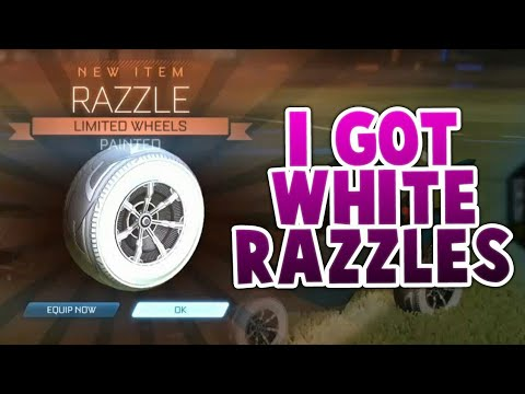 GETTING NEW WHITE RAZZLE WHEELS | ROCKET LEAGUE NEW WHEELS (ROCKET LEAGUE BEST TRADES)