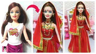 How to decorate a doll with indian bridal dress and jewellery Ami DIY
