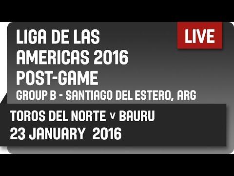 Toros del Norte (NCA) v Bauru (BRA) Post-Game - Group B -  2016 DIRECTV Liga de las Américas