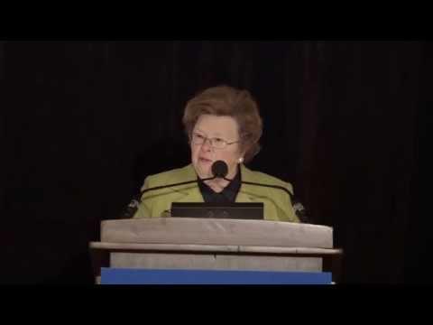 Senator Barbara Mikulski Acceptance Speech, Friends of National Service 2014