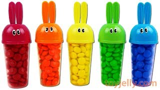 Learn Colors Bunny Popsicle Ice Cream Mold M&M's Surprise Toys Baby Doll Slime Bottle Toys