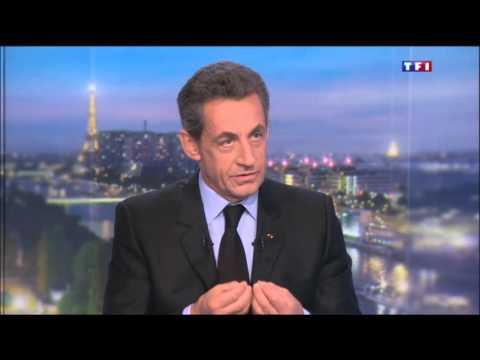 Nicolas Sarkozy TF1 Le JT  #NSTF1 #NS20H le 14/02/2016