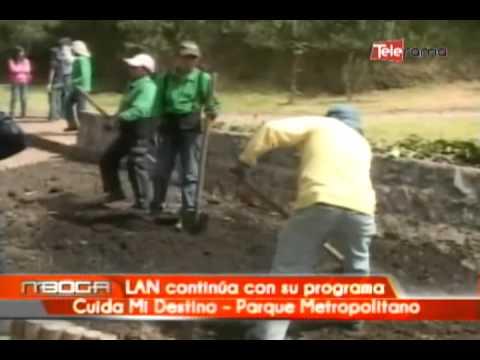 LAN continúa con su programa Ciuda Mi Destino - Parque Metropolitano