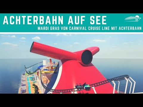 "Achterbahn auf Kreuzfahrtschiff: Mardi Gras ""Bolt Ultimate Sea Coaster"" - Carnival Cruise Line"
