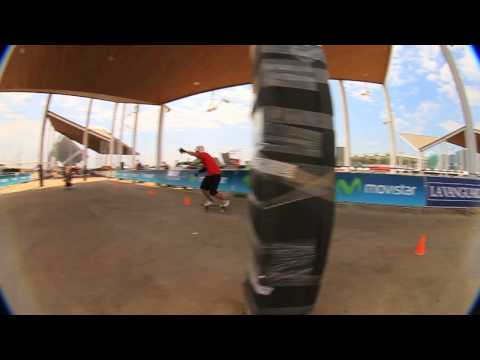 Movistar Barcelona Extreme 2010 - Longboard slalom and slide contest
