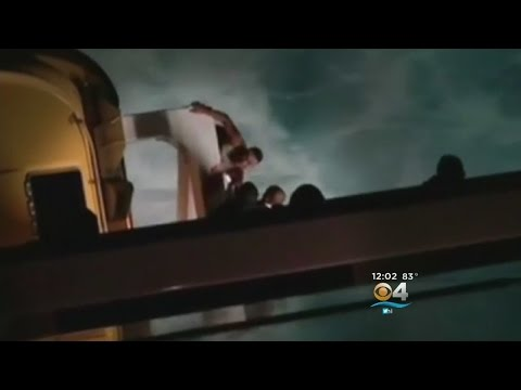 Video: buscan a un brasileño que cayó al mar en un crucero por las Bahamas