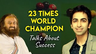 Pankaj Advani in Conversation with Gurudev |  Live Meditation with Gurudev Sri Sri Ravi Shankar