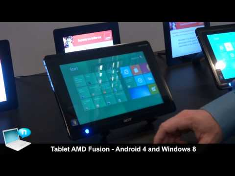 Tablet AMD Fusion running Android 4 ICS and Windows 8