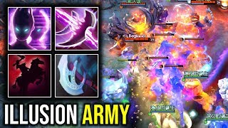 ILLUSIONS ARMY..!! 10+ Illusions Aghanim Scepter Spectre + Chaos Knight 7.22d | Dota 2