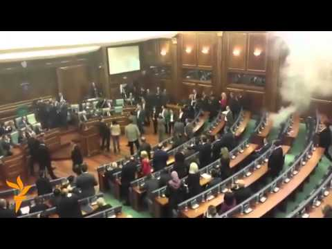 Opposition Set Off Another 'Tear Gas' Grenade in Kosovan Parliament