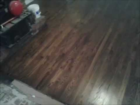 Red Oak Stained Jacobean After Hardwood Floor