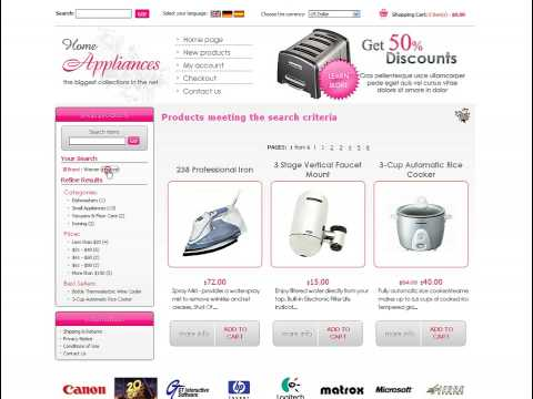 0 Appliences Store osCommerce template