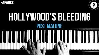 Post Malone - Hollywood's Bleeding Karaoke Slower Acoustic Piano Instrumental Lyrics