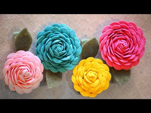 Как сделать цветы из тесьмы для цветов 127