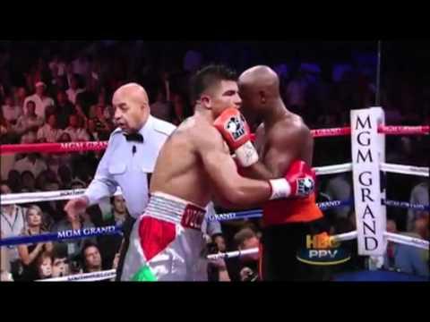 Floyd Mayweather vs Victor Ortiz KO