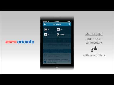 The All New Official ESPNcricinfo iPhone App walk-through