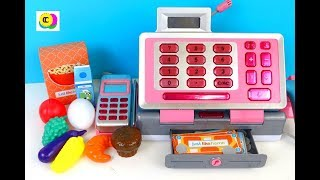 CASH REGISTER PLAY Just Like Home GROCERY BASKET by CreateColors Kids Toys
