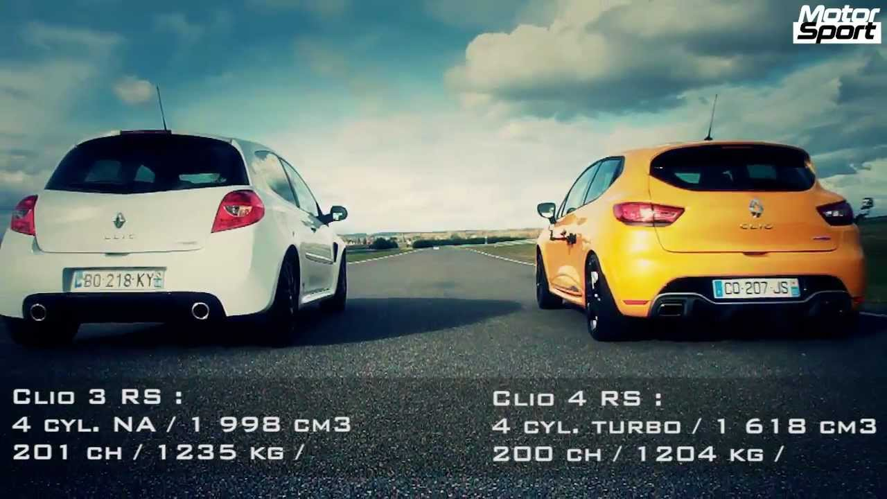 drag race renault clio 4 rs vs clio 3 rs cup motorsport youtube. Black Bedroom Furniture Sets. Home Design Ideas
