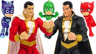 DC The strongest humor hero Shazam! Defeat Black Adam and save PJ Masks! #DuDuPopTOY