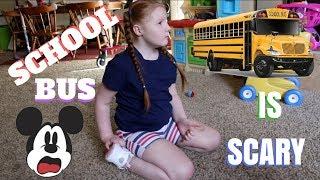 Annabelle Likes The School Bus FINALLY?!