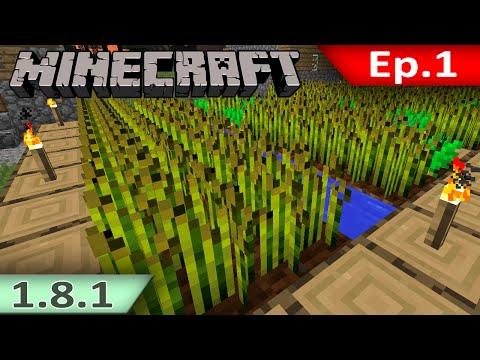 Tackle⁴⁸²⁶ Minecraft (1.8.1) #1 - โด้ของ NPC ในคืนแรก