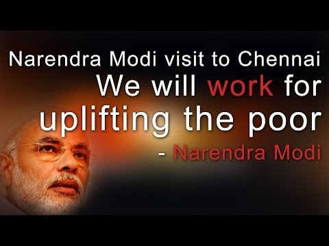 Narendra Modi visit to Chennai - We will work for Uplifting the Poor - Full - Red Pix 24x7