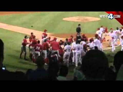 Raw Video: Greenville Drive Brawl With Blue Claws