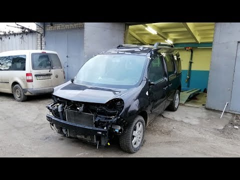 Renault Kangoo.  Пробный выезд.  Подготовка к ремонту.