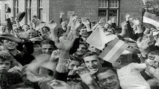 HD Stock Footage WWII Lest We Forget R4 - Liberation of Belgium, Luxemburg, Holland - Siegfried Line