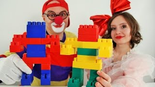Clown Dima and Masya New! Playing in the constructor. ROBOTS Клоун Дима и Мася! Играем в конструктор