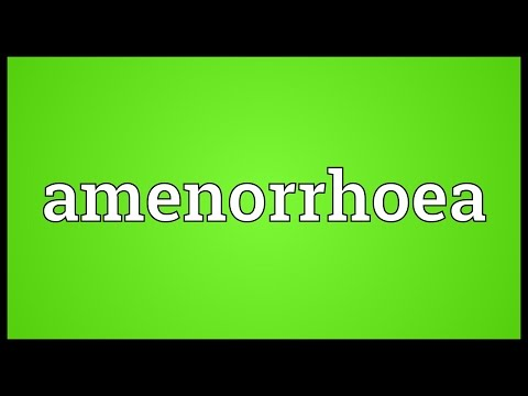 Header of amenorrhoea
