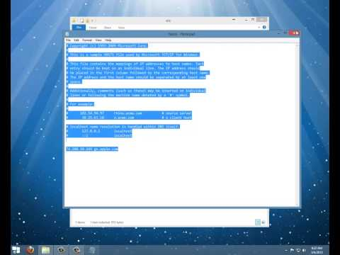 Clean Host File in Windows 8 - Error 3194 & 1013