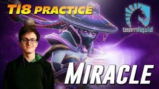 Miracle Templar Assassin practice before TI8 | Dota 2 TOP MMR