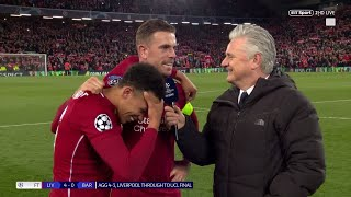 """""""Everyone was unreal!"""" Jordan Henderson and Trent Alexander-Arnold react to Liverpool 4-0 Barca"""