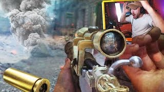 INSANE CLIP THROUGH THE SMOKE!! (COD WW2 Sniping Gameplay)