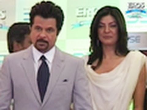 Anil & Sushmita At The BSE