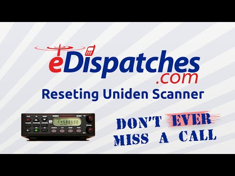 How to reset a Uniden Bearcat scanner