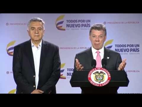 Declaración del Presidente Juan Manuel Santos, al finalizar el Consejo de Ministros
