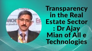 Transparency in the Real Estate sector